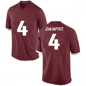 Men's Alexy Jean-Baptiste Arkansas Razorbacks Nike Game Red Football College Jersey