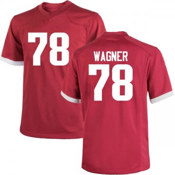 Men's Dalton Wagner Arkansas Razorbacks Nike Game Cardinal Football College Jersey