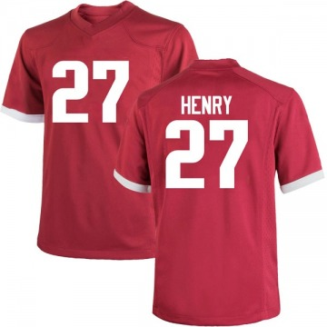Men's Hayden Henry Arkansas Razorbacks Nike Game Cardinal Football College Jersey