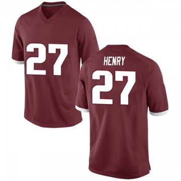 Men's Hayden Henry Arkansas Razorbacks Nike Game Red Football College Jersey