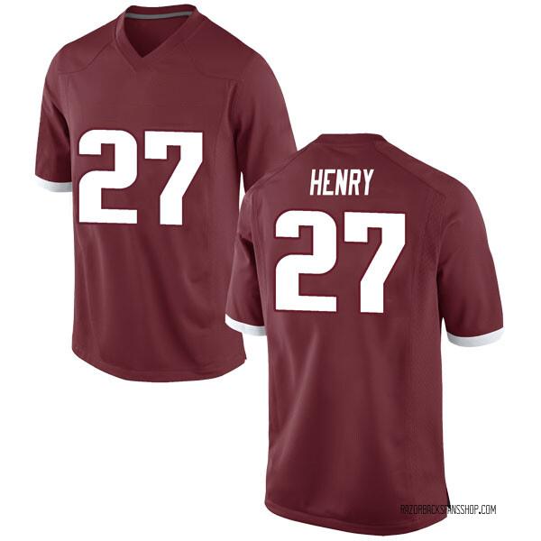 Men's Hayden Henry Arkansas Razorbacks Nike Game Red Football College Jersey