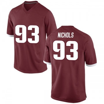 Men's Isaiah Nichols Arkansas Razorbacks Game Red Football College Jersey