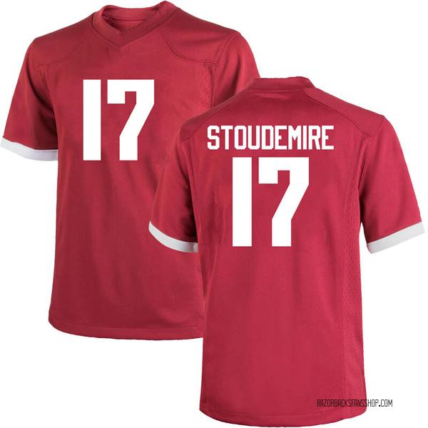 Men's Jimmy Stoudemire Arkansas Razorbacks Nike Game Cardinal Football College Jersey