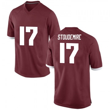 Men's Jimmy Stoudemire Arkansas Razorbacks Nike Game Red Football College Jersey