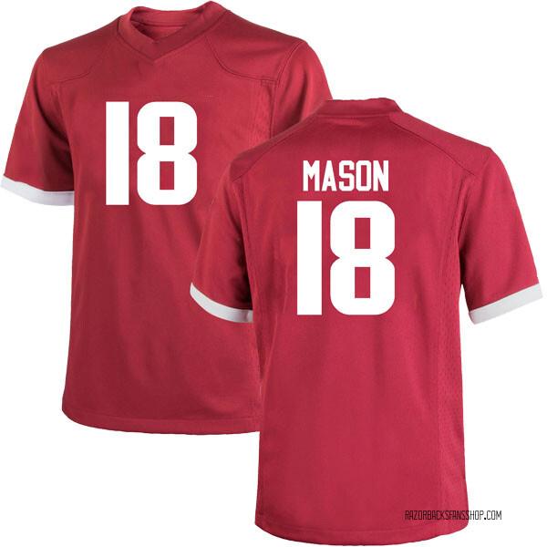 Men's Myles Mason Arkansas Razorbacks Nike Game Cardinal Football College Jersey