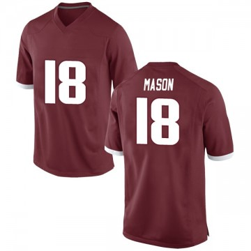 Men's Myles Mason Arkansas Razorbacks Nike Game Red Football College Jersey