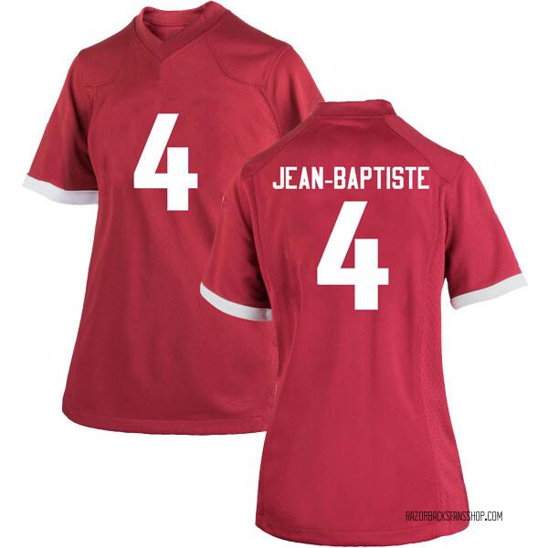 Women's Alexy Jean-Baptiste Arkansas Razorbacks Nike Replica Cardinal Football College Jersey