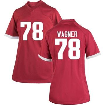 Women's Dalton Wagner Arkansas Razorbacks Nike Game Cardinal Football College Jersey