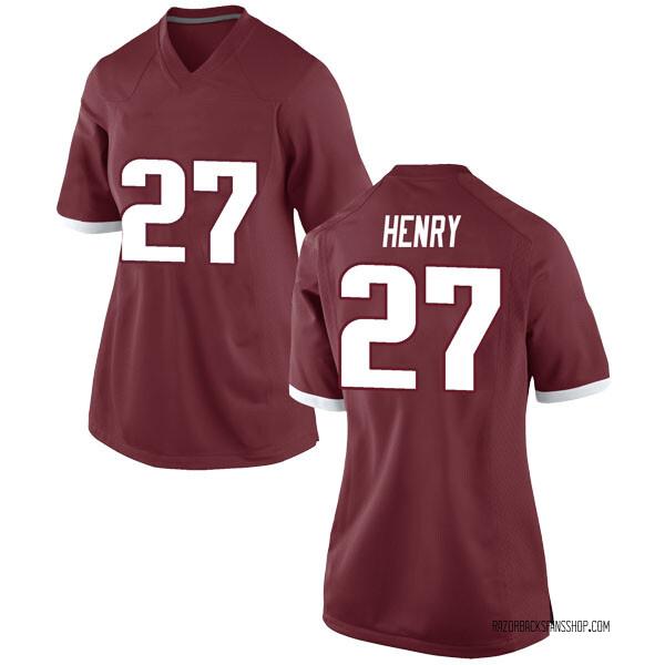 Women's Hayden Henry Arkansas Razorbacks Nike Game Red Football College Jersey