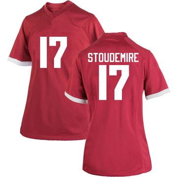 Women's Jimmy Stoudemire Arkansas Razorbacks Nike Replica Cardinal Football College Jersey
