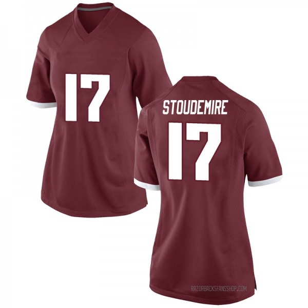 Women's Jimmy Stoudemire Arkansas Razorbacks Nike Replica Red Football College Jersey