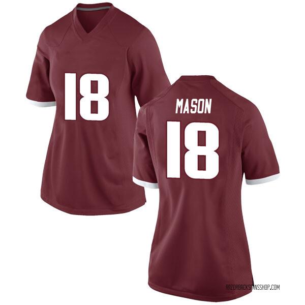 Women's Myles Mason Arkansas Razorbacks Nike Game Red Football College Jersey