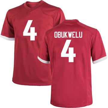 Youth Emeka Obukwelu Arkansas Razorbacks Nike Game Cardinal Football College Jersey