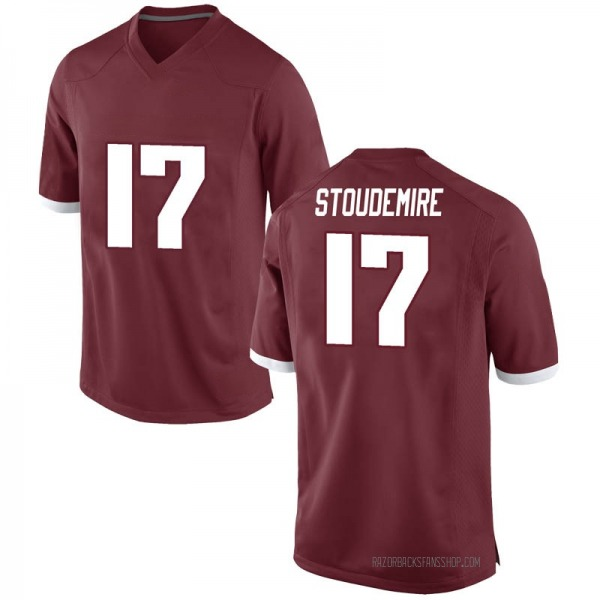 Youth Jimmy Stoudemire Arkansas Razorbacks Nike Game Red Football College Jersey